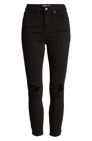 Topshop Jamie High Waist Ripped Skinny Jeans (Regular, Petite & Long) | Nordstrom