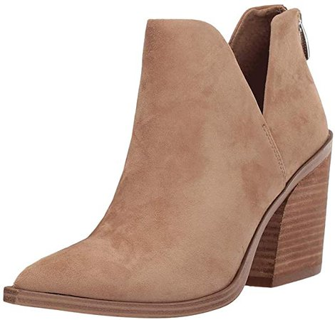 Amazon.com | Kathemoi Womens Ankle Boots Slip on Cutout Pointed Toe Snakeskin Chunky Stacked Mid Heel Booties | Ankle & Bootie