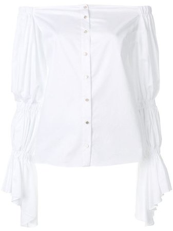 white puff sleeve blouse - Google Search