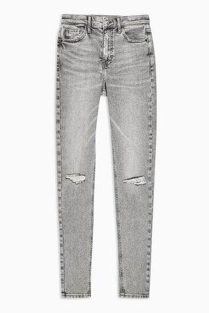 Grey Knee Rip Jamie Skinny Jeans | Topshop