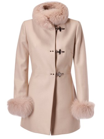 Fay Fur Detail Coat