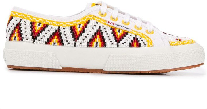 x Superga embroidered sneakers