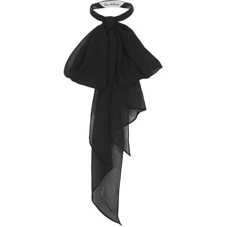 Miss Selfridge Black Pussy Bow Neck Scarf