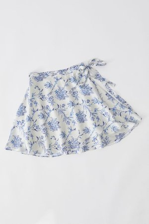 UO Wendy Satin Wrap Skirt | Urban Outfitters
