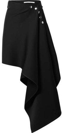 Peter Do - Asymmetric Satin-crepe Skirt - Black