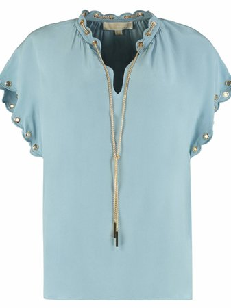 Michael Kors Metal Details Silk Blouse
