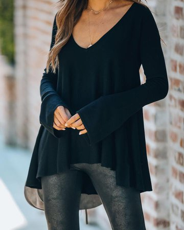 Laurie Bell Sleeve Tunic Sweater - Black – VICI