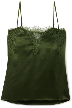 Cami NYC | The Sweetheart lace-trimmed silk-charmeuse camisole | NET-A-PORTER.COM