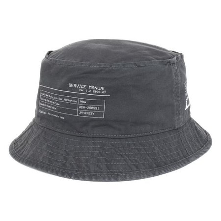 C2H4 INSTRUCTION PRINT BUCKET HAT / SLATE GRAY