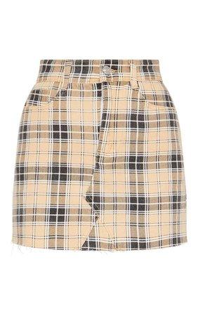 Stone Check Denim Skirt | Denim | PrettyLittleThing USA