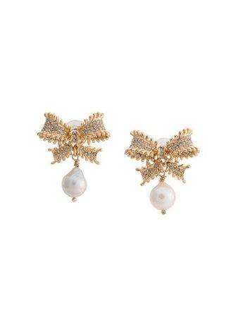 Dannijo Vale bow-shaped earrings