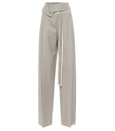 Stella McCartney - High-rise wool wide-leg pants   Mytheresa