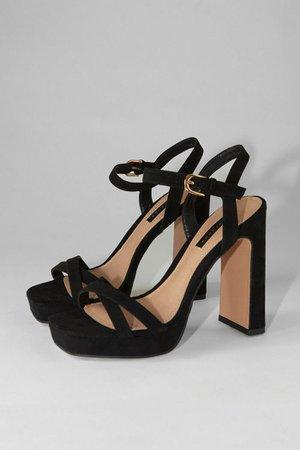 SIENNA Black Platform Heels | Topshop
