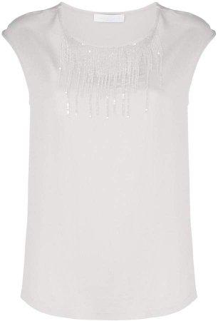 sequin detail short sleeve top