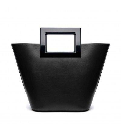 Riviera in Black Straw: Designer Tote Bag for Women | Marina Raphael