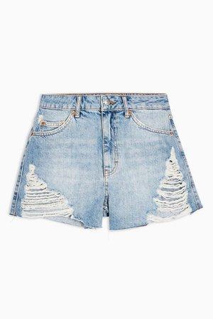 Super Ripped A-Line Mom Denim Shorts | Topshop