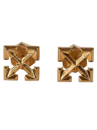 Off-White Mini Arrow Earrings