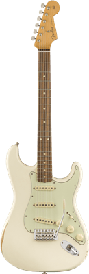 Fender Road Worn '60s Stratocaster, Olympic White, Electric Guitar