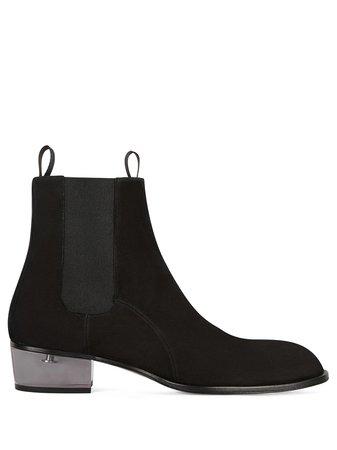 Giuseppe Zanotti transparent heel chelsea boots - FARFETCH