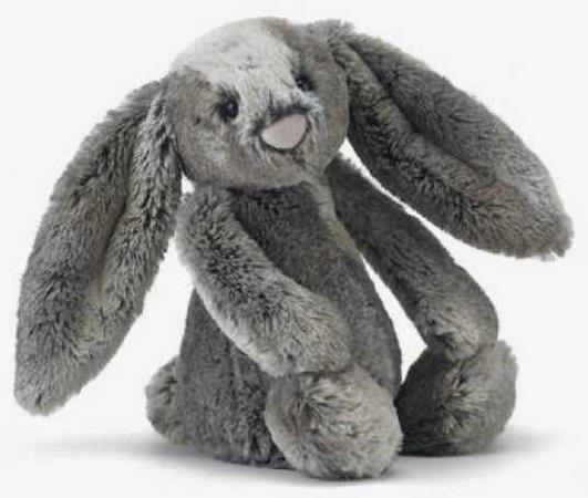 baby toy stuffed animal bunny rabbit grey gray kid child children filler