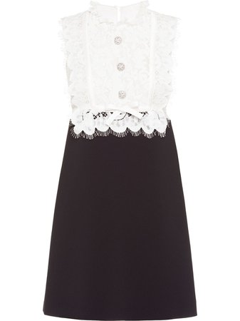 Miu Miu Faille Mini Dress - Farfetch
