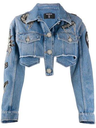 Dejim Balmain Cropped Distress Jacket
