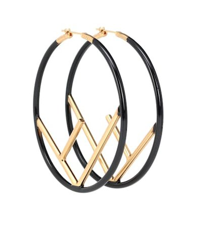 F Is Fendi hoop earrings