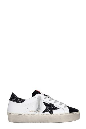 Golden Goose Hi Star Sneakers In White Suede And Leather
