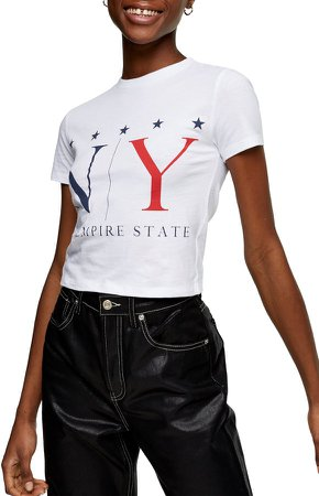 Empire State Crop Graphic Tee
