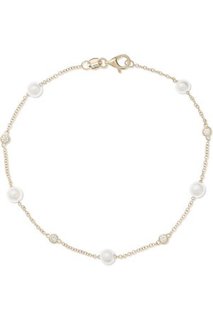 Mateo | 14-karat gold, pearl and diamond bracelet | NET-A-PORTER.COM