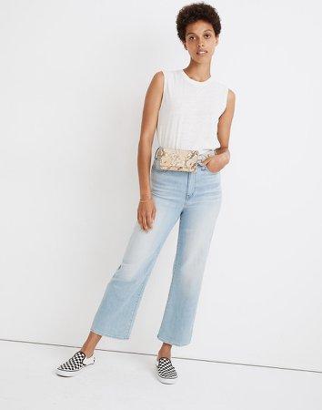 Petite Slim Wide-Leg Jeans in Eastwick Wash