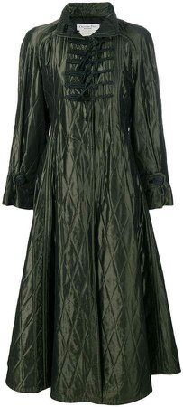 Pre-Owned padded diamond quilted coat