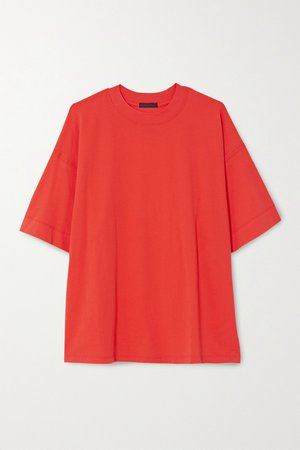 Bright orange Cotton-jersey T-shirt | ATM Anthony Thomas Melillo | NET-A-PORTER