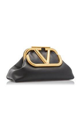 Valentino Garavani Supervee Leather Clutch By Valentino | Moda Operandi