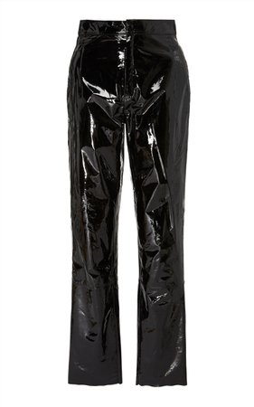 Zeynep Arçay Patent Leather Pants Size: 2