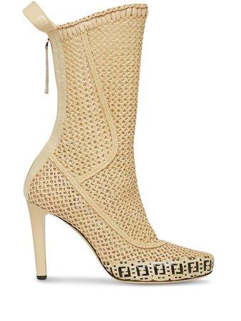 Fendi FF motif mid-calf boots - FARFETCH