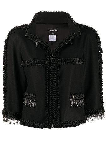 Chanel Pre-Owned Ruffled Details Jacket Vintage   Farfetch.com