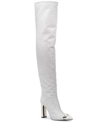 Casadei Glitter Knee High Boots