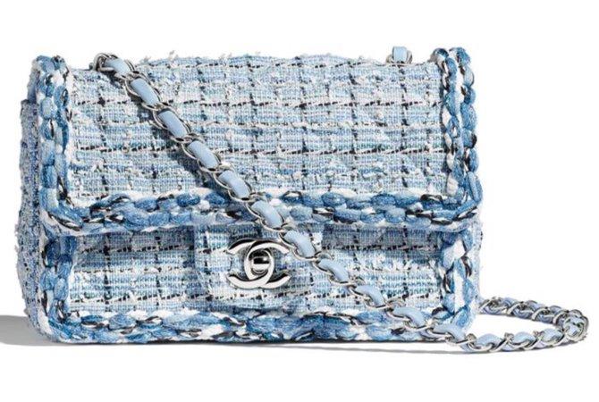 Chanel Blue Tweed Bag