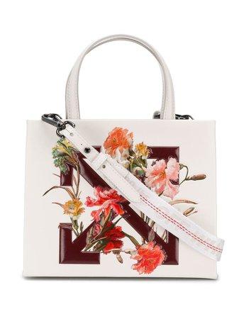 Off-White floral-print Logo Tote Bag - Farfetch
