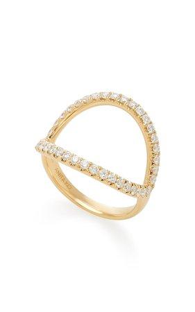 Arc 18k Gold Diamond Ring By Anita Ko | Moda Operandi