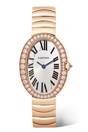 Cartier | Baignoire 24.5mm small 18-karat pink gold and diamond watch | NET-A-PORTER.COM