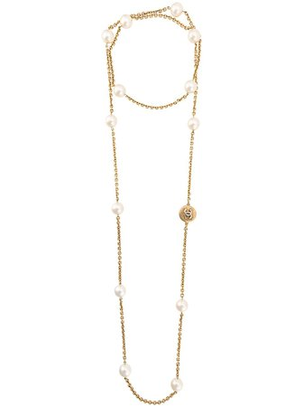 Chanel Pre-Owned double long necklace $2,880 - Shop VINTAGE Online - Fast Delivery, Price