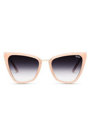 Quay Australia Reina 51mm Gradient Cat Eye Sunglasses | Nordstrom