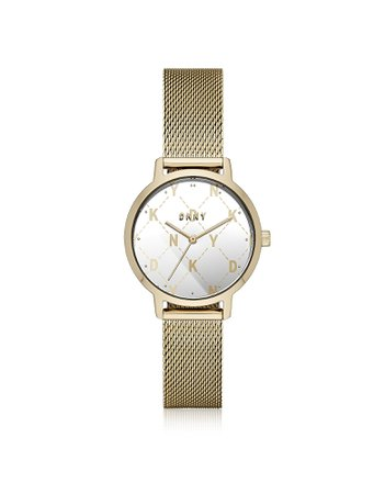 Dkny The Modernist Gold Tone Mesh Watch
