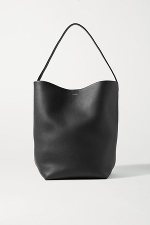 N/s Park Textured-leather Tote - Black