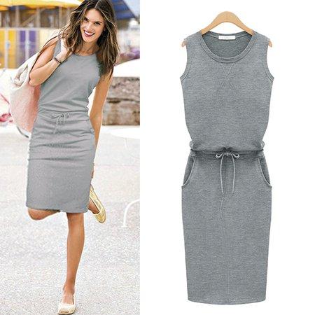 casual grey summer dress - Google Search