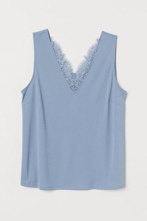 H&M+ Sleeveless Top - Blue
