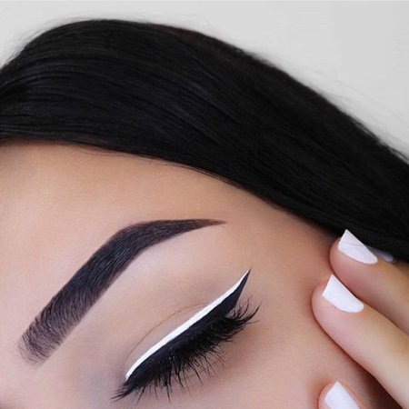 beauty, eyebrows, eyeliner, eyes, girl on We Heart It