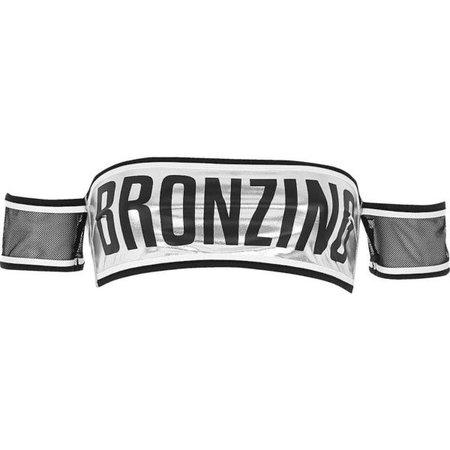 River Island Silver metallic 'bronzing' bardot bikini top ($23)